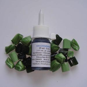 Grøn farve i flere størrelser