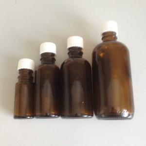 Brune glasflasker med låg 30ml